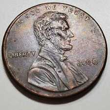 Rare Collectible 2000 P Rainbow Blue Toned Double Die Lincoln Cent Penny Coin