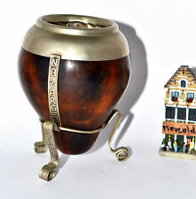 ARGENTINA GOURD AND METAL STAND MATE YERBA TE CUP / New Stock