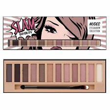 Natural Nude Eyeshadow Palette Eye Makeup Matte & Shimmery Shadow Hues 12 Shades