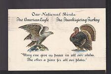 KAPPYS PC168 CIRCA 1900 OUR NATIONAL BIRDS EAGLE AND TURKEY