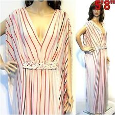 Polyester Cocktail Striped Dresses for Women