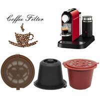 3 Dosettes Nespresso Capsules à Café Réutilisable Rechargeable Avec Cuillère