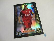 Match Attax Attack 2007/2008 Steven Gerrard MOTM 101 100 Club Card 2007/08 07/08