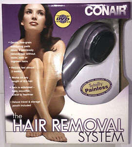 NIB, Conair Painless Hair Removal System With Travel Pouch Item Sealed ! Mint