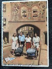 Original Klepper Postkarte Faltboot Kajak Faltboote auf Bootswagen