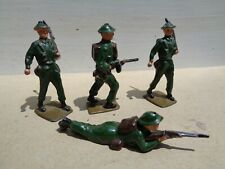 vintage Johillco, Crescent, Britains,  Army ww2 soldiers lot of 4, lead 54mm