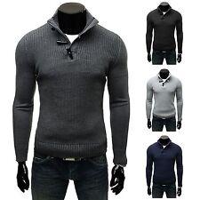 Unifarbene Herren-Pullover & -Strickware mit Polokragen aus Baumwolle