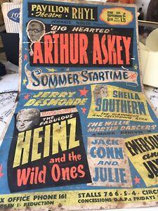 Original 1960's Theatre Poster: JOE MEEK HEINZ & The Wild ones ARTHUR ASKEY +