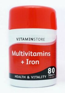 Vitamin Store Multivitamins + Iron - 80 Tablets 1-A-Day