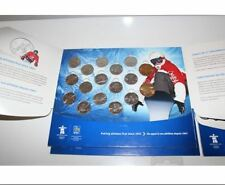 Canada 2010 Olympics Mint Set Of Coins In Official RBC Album.
