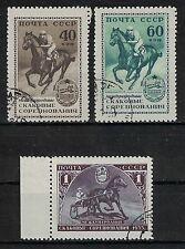 RUSSIA, USSR:1955 SC#1789-91(3) Used-International Horse Races, Moscow