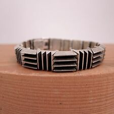 Antonio Pineda Modernist Bracelet Mexican Sterling Silver Mid-Century Modern Vtg