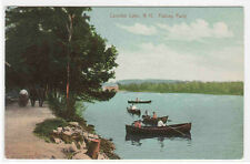 Fishing Party Boating Canobie Lake New Hampshire 1911 postcard