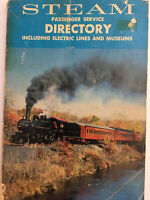 1978 STEAM Passenger Service Directory Vintage Book Railroad Museums Lines