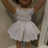 Fits 18 inch AMERICAN GIRL DOLL ~ DOLL CLOTHES ~ WHITE  HALF SLIP ~ SKIRT   4871