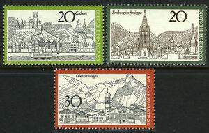 Germany 1047-49,MNH.Cochem,Moselle River;Freiburg im Breisgau;Oberammergau,1970