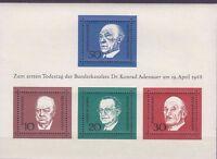 BRD Bund Postfrisch Block 4, 554-557, Konrad Adenauer, Bundesrepublik