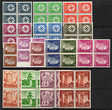 WW2 Germany Poland General Government Block Set of 16, Reich Officials - MNH*