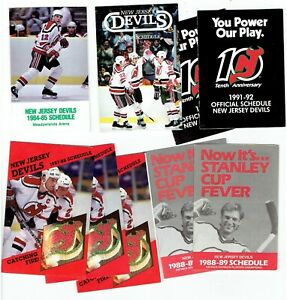 NEW JERSEY DEVILS ~ Lot of Pocket Schedules 1984-1992