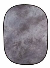 StudioPRO 5 x 6.5 Gray Collapsible Twist Pop Out Muslin Backdrop for Photo