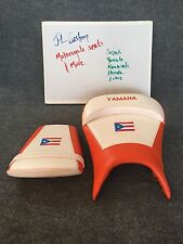 99-02 Yamaha YZF-R6 & R6 Custom Seats Set Front & Rear. Pearl White & Orange