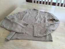 Shein Size Medium Brown Ribbed Wide Sleeved Jumper.              c