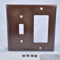 Vintage Polished Brass Decora Blank Telephone CATV Wall Cover Plate Sierra P/&S