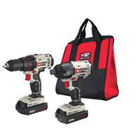 Porter-Cable 20V MAX Li-Ion Drill Driver & Impact Drill Kit PCCK604L2 New