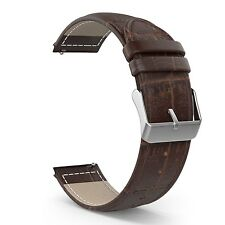 COFFEE BROWN LEATHER Wristband Band Strap For Samsung Galaxy GEAR S2 CLASSIC