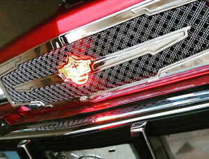 1986-1990 Chevy Caprice chrome grill triple weave mesh grille 3rd gen DONK