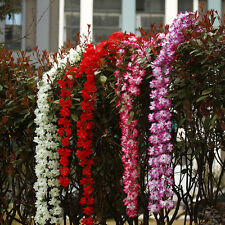 Artificial Silk Wisteria Fake Garden Hanging Flower Plant Ivy Vine Home Decor