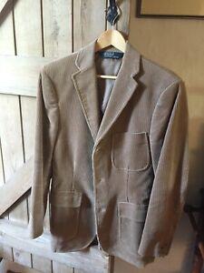 Polo Ralph Lauren men's fawn corduroy blazer, small, 38/40R