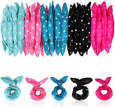 Locisne 40pcs=5 Color*8pcs Flexible Foam Sponge Hair Curlers, No Heat Hair Magic