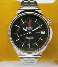 OMEGA Chronometer Electronic Stainless Steel Mens Watch Seamaste F300HZ Vintage
