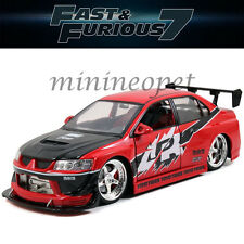 JADA 97179 FAST AND FURIOUS 7 SEAN'S MITSUBISHI LANCER EVO EVOLUTION 8 1/18 RED
