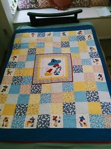 """Vintage Sunbonnet Sue Quilt 62"""" Long X 48.5"""" Wide Daybed Baby Throw Twin Full"""