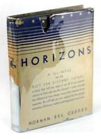 First Edition 1932 Horizons Norman Bel Geddes Art Deco Design Hardcover w/DJ