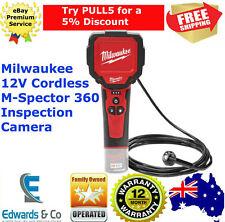 "Cordless Inspection Camera 12V M-Spector 360 2.7m Power Tool 2.7"" LCD Milwaukee"
