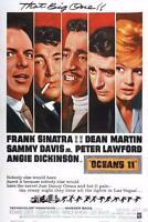 OCEAN'S ELEVEN 1960 SINATRA VINTAGE MOVIE POSTER FILM A4 A3 ART PRINT CINEMA