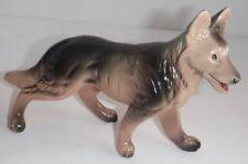 Vintage German Shepherd Dog Hard Plastic Made Hong Kong