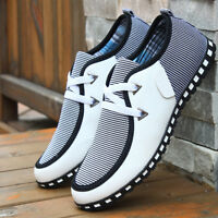 Men's Canvas Slip-on Shoes Driving Peas Shoes Summer Casual Low Loafers Shoes