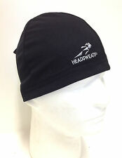BLACK HEADSWEATS COOLMAX SKULL CAP CYCLING HELMET LINER NEW