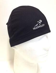 BLACK HEADSWEATS COOLMAX SKULL CAP CYCLING HELMET LINER NEW