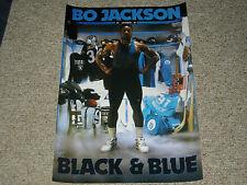 """BO JACKSON RAIDERS/ROYALS """"BLACK & BLUE"""" 20X30 POSTER PRINT"""