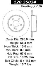 Centric Parts 128.35034L Rear Drilled Brake Rotor