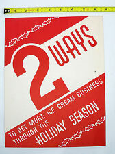 1940's Cincinnati Ohio Advertising - Egg Nog & Ice Cream Promotional Campaign