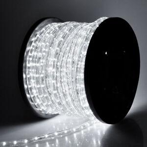 """1/2"""" Cool White LED Rope 150ft 110V Flexible Bright Christmas Outdoor Lighting"""