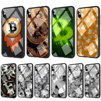 BTC Bit coin Ahegao Tempered Glass TPU Case for iPhone X 8 7 6 6S Plus
