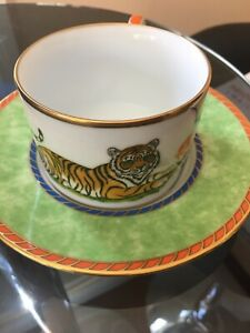 Lynn Chase TIGER RAJ Cup Saucer Set
