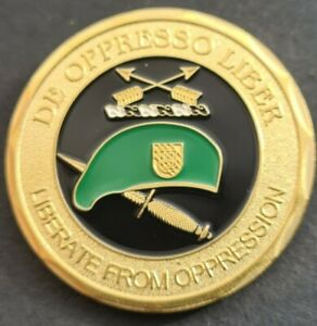 Special Forces GREEN BERET Challenge Coin FREE COIN STAND AND BRAND NEW FITTEDv